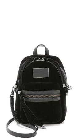 Marc By Marc Jacobs Velvet Biker Bag - Black