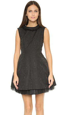Marc By Marc Jacobs Watermark Technical Taffeta Dress - Black