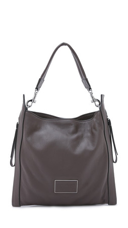 Marc By Marc Jacobs Zip That Hobo Bag - Faded Aluminum