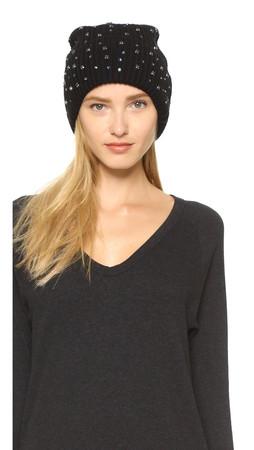Markus Lupfer Scattered Jewels Beanie Hat - Black