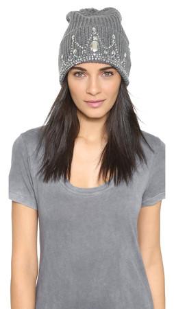 Markus Lupfer Tiana Beanie Hat - Grey/Silver