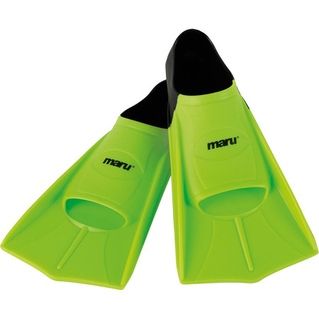 Maru Training Fins - 35-36 (UK 2/3) Lime/Black | Swimming Fins