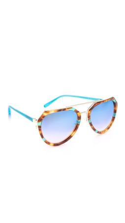 Matthew Williamson Aviator Sunglasses - Jade T-Shell/Jade