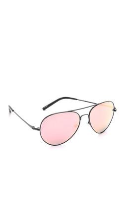 Matthew Williamson Mirrored Aviator Sunglasses - Black/Peach