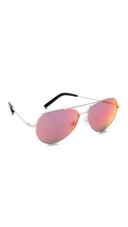 Matthew Williamson Mirrored Aviator Sunglassess - Red Revo
