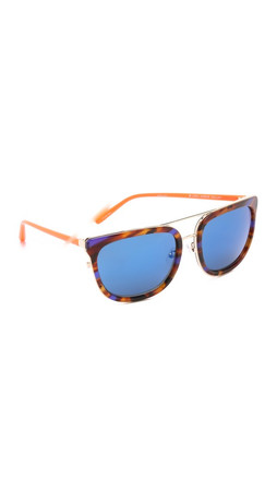 Matthew Williamson Mirrored Sunglasses - Purple T-Shell/Blue
