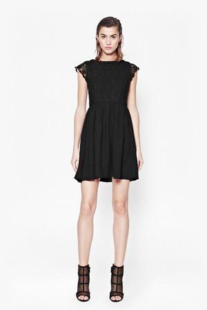 Maui Lace Flared Dress - BLACK