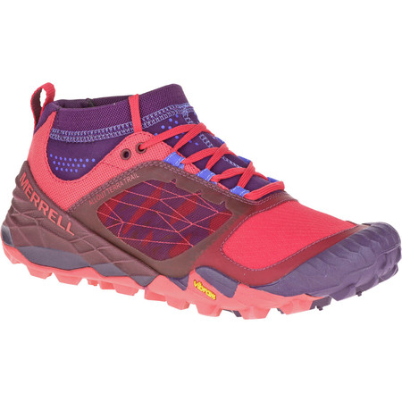 Merrell Women's All Out Terra Trail Shoes-  - UK 3.5 Purple/Red