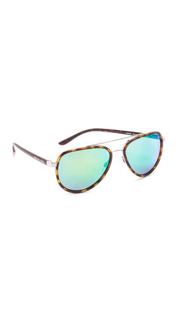 Michael Kors Aviator Sunglasses - Tortoise Silver/Green