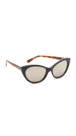 Michael Kors Cat Eye Sunglasses - Black Brown Tortoise/Grey Grad