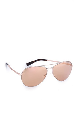 Michael Kors Gramercy Sunglasses - Rose Gold/Rose Gold Flash
