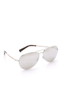 Michael Kors Gramercy Sunglasses - Silver/Light Silver Flash