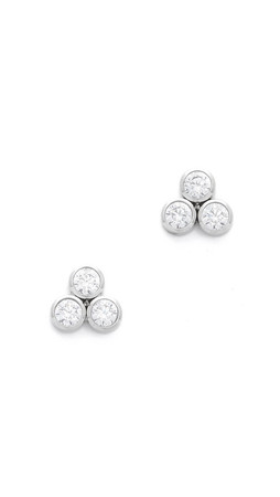 Michael Kors Park Avenue Cluster Stud Earrings - Silver/Clear