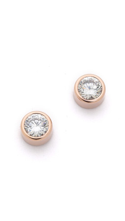 Michael Kors Park Avenue Cut Stud Earrings - Rose Gold/Clear
