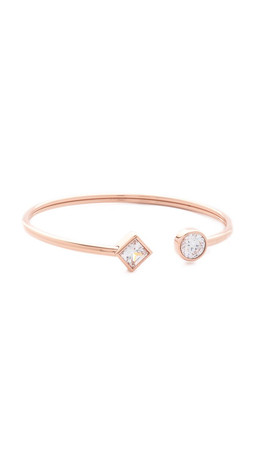 Michael Kors Park Avenue Flex Open Cuff Bracelet - Rose Gold/Clear