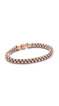 Michael Kors Park Avenue Rounded Bracelet - Rose Gold/Clear