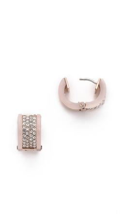 Michael Kors Pave Huggie Earrings - Rose Gold/Blush