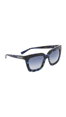 Michael Kors Square Sunglasses - Blue Marble/Blue Grey Gradient