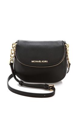 Michael Michael Kors Bedford Flap Cross Body Bag - Black