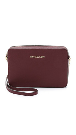 Michael Michael Kors Jet Set Cross Body Bag - Merlot