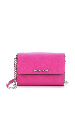 Michael Michael Kors Jet Set Cross Body Bag - Raspberry