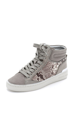 Michael Michael Kors Kyle High Top Sneakers - Pearl Grey