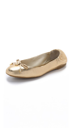 Michael Michael Kors Melody Ballet Flats - Gold