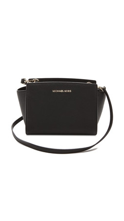 Michael Michael Kors Selma Medium Messenger Bag - Black