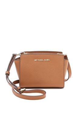 Michael Michael Kors Selma Mini Messenger Bag - Luggage