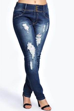 Mel High Waisted Stretch Skinny Jeans indigo