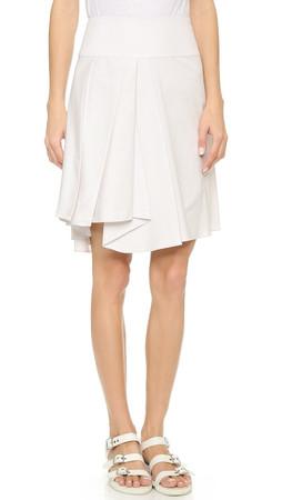 Milly Asymmetrical Skirt - Stone