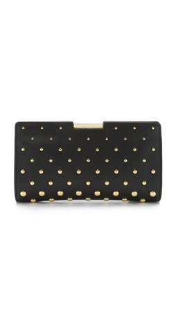 Milly Logan Stud Clutch - Black