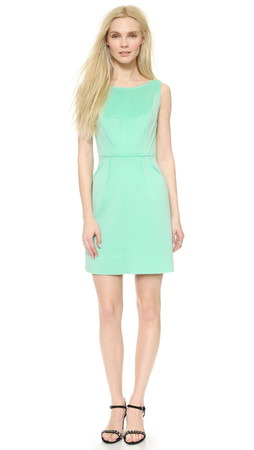 Milly Seamed Detail Sheath Dress - Mint