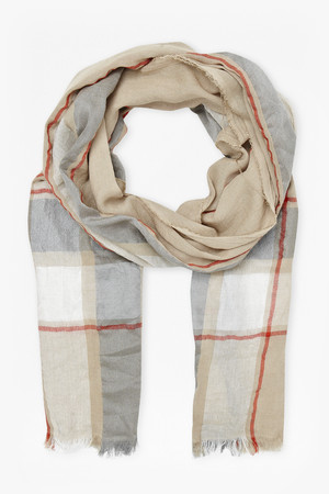 Milo Checked Scarf - Sand
