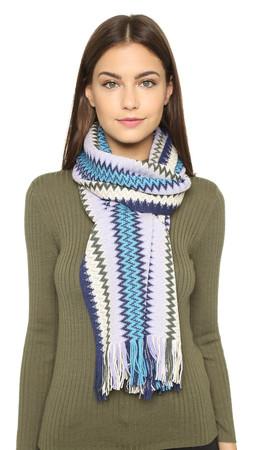 Missoni Knit Scarf - Blue/Lavender