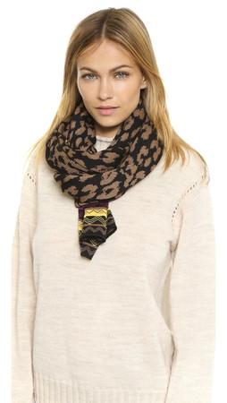 Missoni Knit Scarf - Brown/Gold