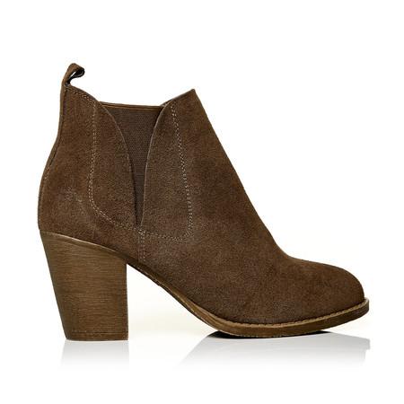 Moda in Pelle Benecias Taupe Medium Casual Short Boots
