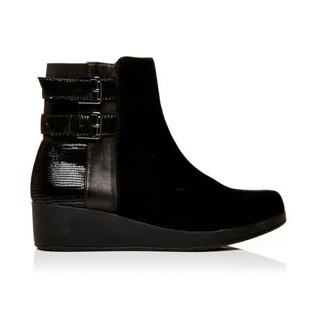Moda in Pelle Berezi Black Medium Casual Short Boots