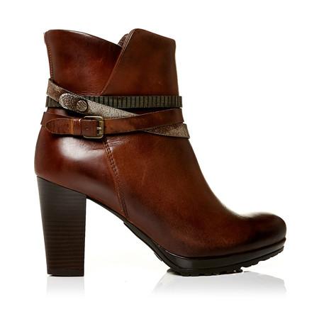 Moda in Pelle Biannca Tan V High Smart Short Boots