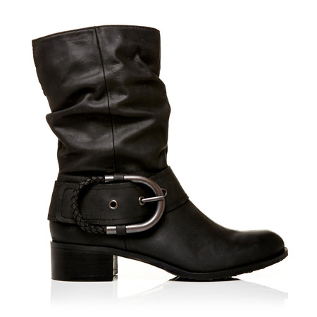 Moda in Pelle Dominga Black Low Casual Short Boots