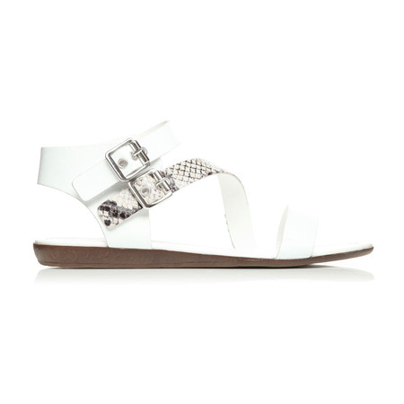 Moda in Pelle Norina White Flat Casual Sandals