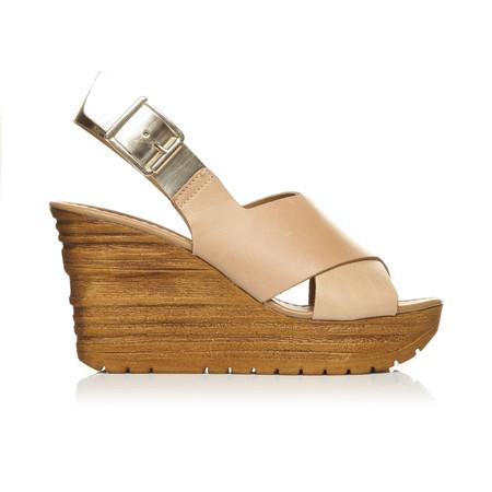 Moda in Pelle Quella Tan High Casual Sandals