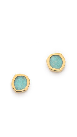 Monica Vinader Atlantis Earrings - Amazonite