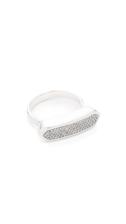 Monica Vinader Baja Ring - Diamond/Silver
