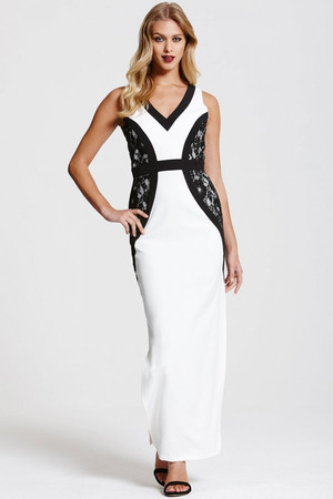 Monochrome Maxi Dress
