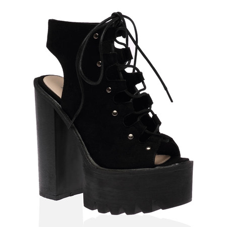 Morgan Heeled Boots in Black