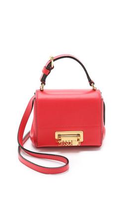 Moschino Mini Cross Body Bag - Red