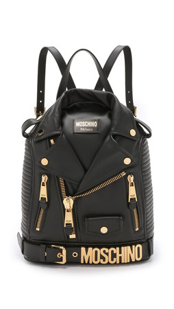 Moschino Motorcycle Backpack - Black