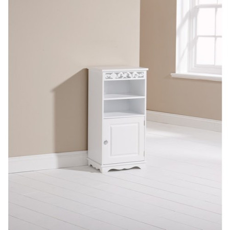 Mountrose Coral 1 Door Bathroom Cupboard in White