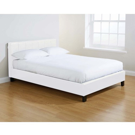 Mountrose Georgia Faux Leather Double Bed In White